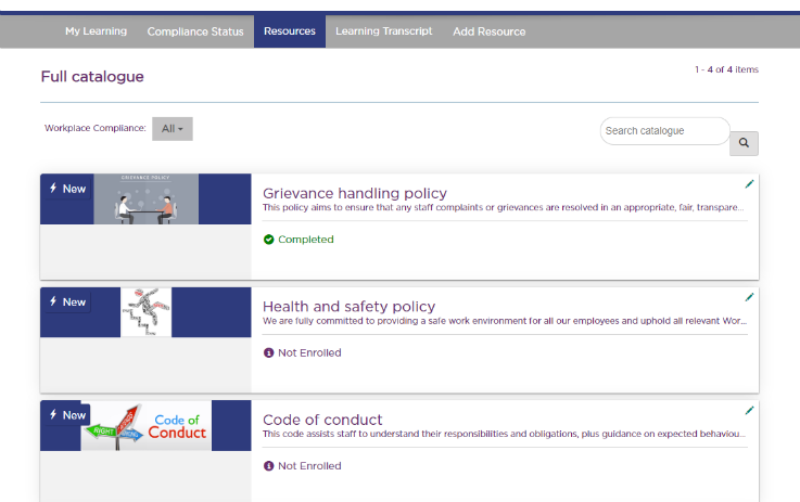 Compliance resources hub